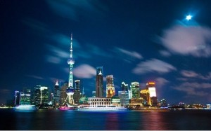from the bund overlooking the huangpo river, you can view the oriental pearl tower