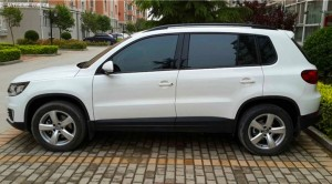 new VolksWagon TIGUAN with driver, USD140/day!